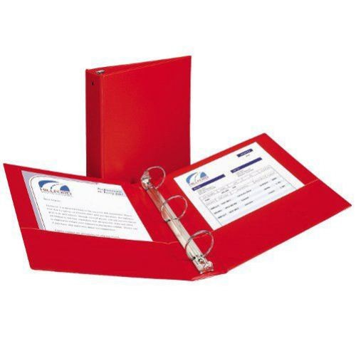 "Avery 1/2"" Red Economy Round Ring Binders 12pk (AVE-03210) Image 1"