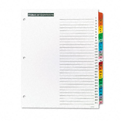 Avery 1-31 tab Office Essentials Table 'N Tabs Dividers (AVE-11681) - $3.11 Image 1