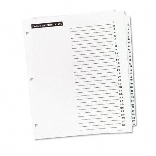 Avery 1-31 tab White Office Essentials Table 'N Tabs Dividers (AVE-11680) - $5.11 Image 1