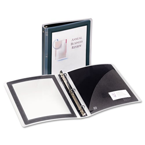 "Avery 1.5"" Black Flexi-View Round Ring Binders 12pk (AVE-17637) Image 1"