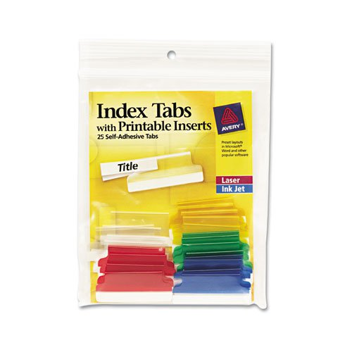 "Avery 1.5"" Assorted Self-Adhesive Plastic Tabs 25pk (AVE-16228) - $3.23 Image 1"