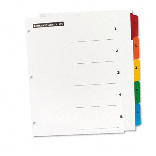 Numbered Tabs for Binders Image 1