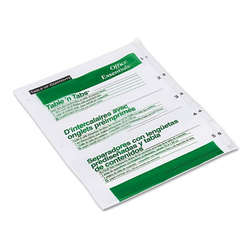 Avery 1-5 tab White Office Essentials Table 'N Tabs Dividers (AVE-11666) - $1.63 Image 1
