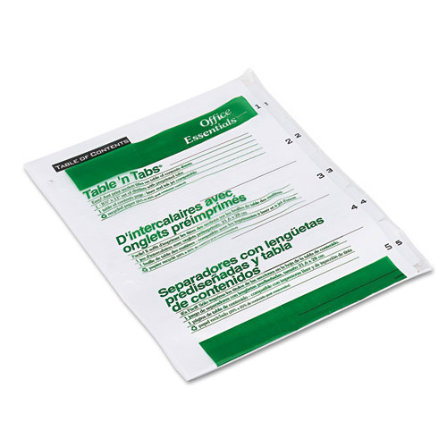 Avery 5 Tab Divider Product Number