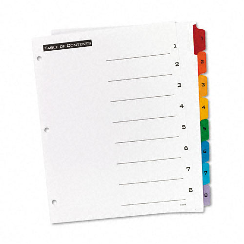 Avery 1-8 tab Office Essentials Table 'N Tabs Dividers (AVE-11669) - $2.34 Image 1