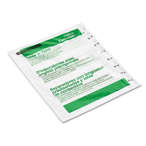 Avery 1-8 tab White Office Essentials Table 'N Tabs Dividers (AVE-11668) - $1.4 Image 1