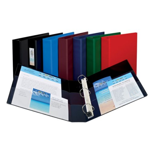 "Avery 1"" Assorted Heavy Duty View Binders with One Touch EZD Ring 12pk (AVE-79830) Image 1"