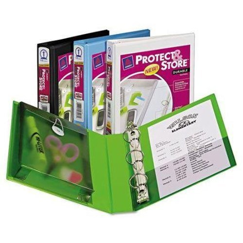 "Avery 1"" Assorted Protect & Store 5.5"" x 8.5"" Mini Durable Round Ring View Binders 12pk (AVE-23023) Image 1"