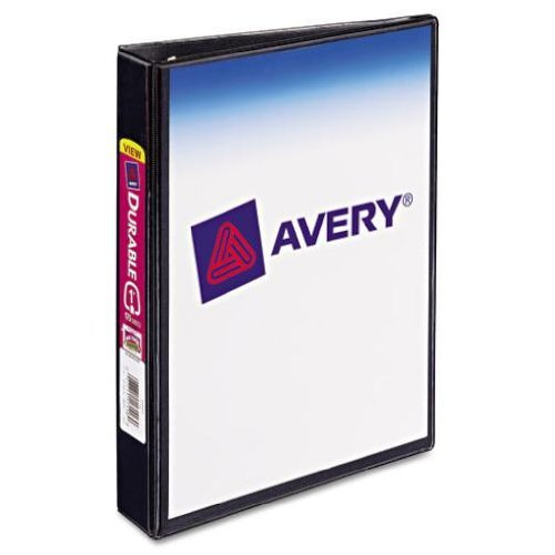 "Avery 1"" Black 5.5"" x 8.5"" Mini Durable Round Ring View Binders 12pk (AVE-17167) Image 1"
