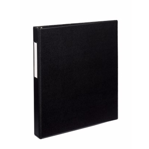 "Avery 1"" Black Durable Slant Ring Binders w/ Label Holders 12pk (AVE-27256) Image 1"