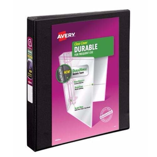 "Avery 1"" Black Durable Slant Ring View Binders 12pk (AVE-17011) Image 1"