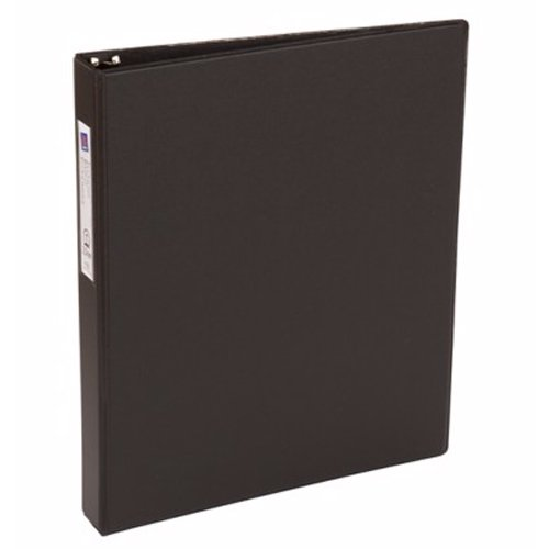 "Avery 1"" Black Economy Round Ring Binders with Label Holders 12pk (AVE-04301) Image 1"