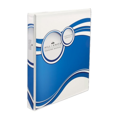 "Avery 1"" Blue Circles Designer View Binders with Slant Ring 6pk (AVE-18601) Image 1"
