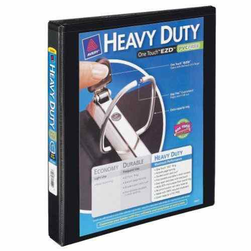 """Avery 1"""" Black One Touch Heavy Duty EZD View Binders 12pk (AVE-79699) - $113.71 Image 1"""