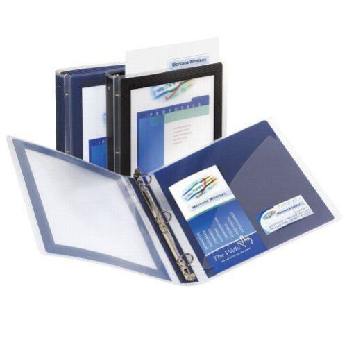 "Avery 1"" Navy Blue Flexi-View Round Ring Binders 12pk (AVE-17685) Image 1"