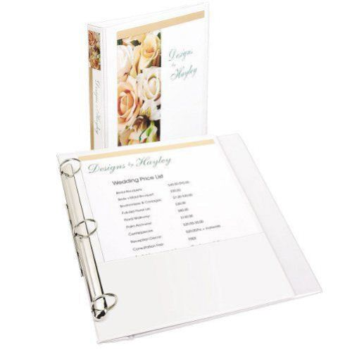 White Flip Back View Binder Image 1