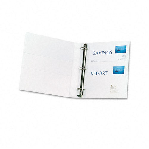 White EZD Ring Binders Image 1