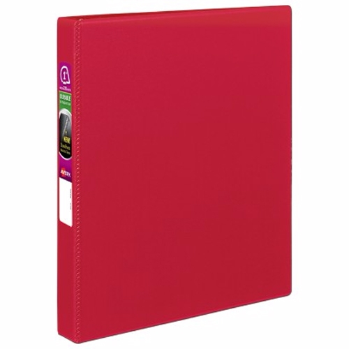 "Avery 1"" Red Durable Slant Ring Binders 12pk (AVE-27201) Image 1"