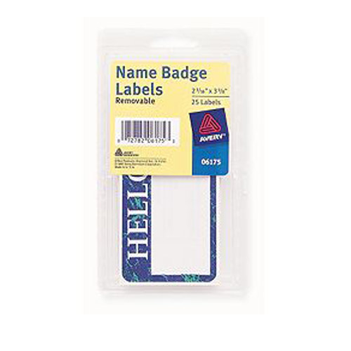 Blue Avery Name Badge Labels Image 1