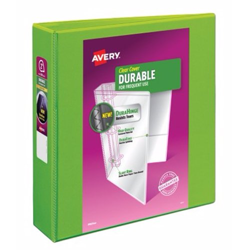 "Avery 2"" Green Durable View Binders with Slant Ring 6pk (AVE-17838) Image 1"