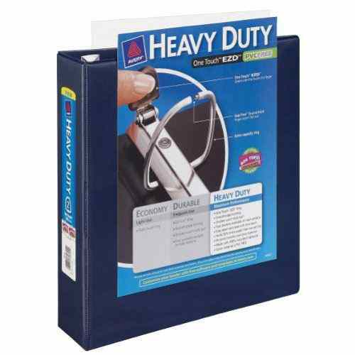 "Avery 2"" Navy Blue One Touch Heavy Duty EZD View Binders 6pk (AVE-79802) Image 1"