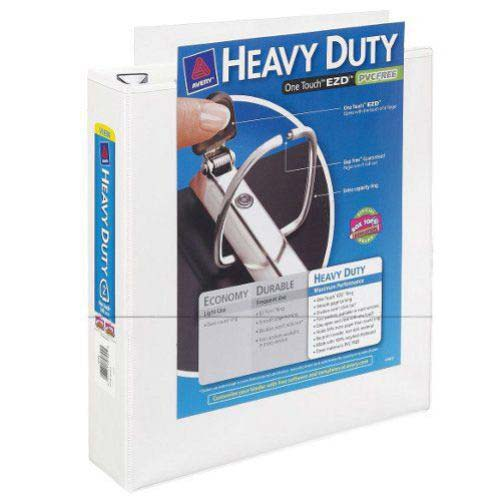 "Avery 2"" White One Touch EZD Heavy Duty View Binders 6pk (AVE-79792) Image 1"