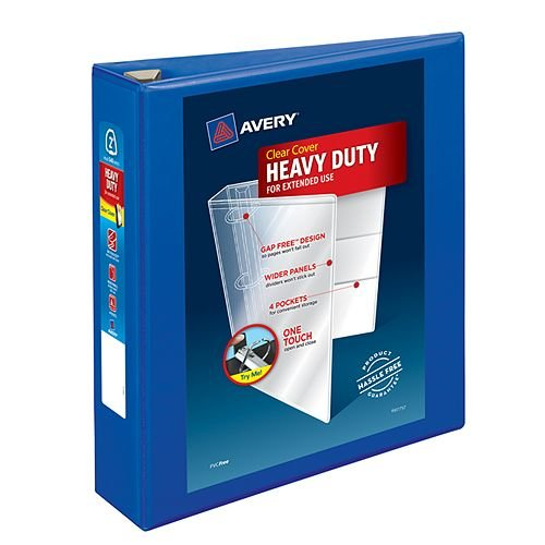 "Avery 2"" Pacific Blue Heavy-Duty View Binders with Locking One Touch EZD Ring 6pk (AVE-79778) Image 1"