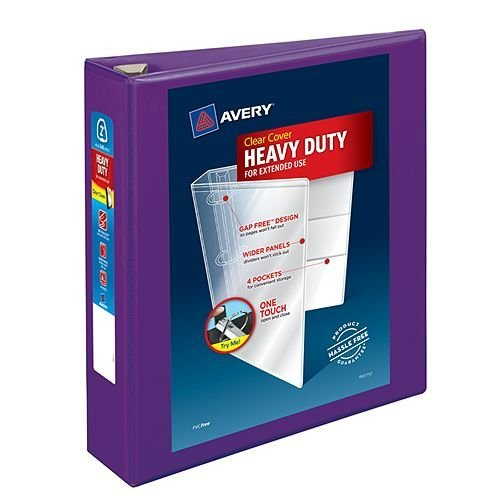 "Avery 2"" Purple Heavy-Duty View Binders with Locking One Touch EZD Ring 6pk (AVE-79777) Image 1"