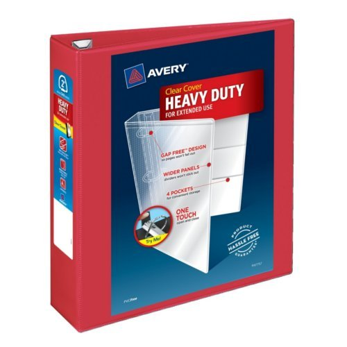 "Avery 2"" Red Heavy Duty View Binders with One Touch EZD Ring 6pk (AVE-79225) Image 1"