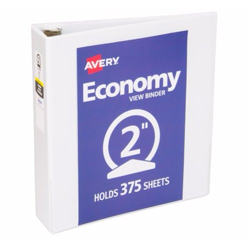 "Avery 2"" White Economy View Round Ring Binders 12pk (AVE-05780) Image 1"