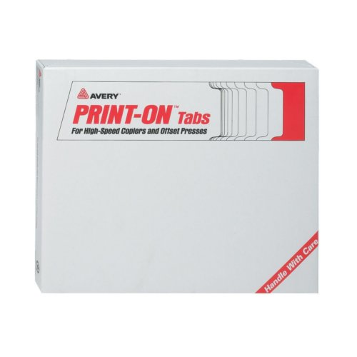 Avery 5-Tab Unpunched Print-On Copier Tab Dividers with White Tabs 30 sets - 20405 (AVE-20405) Image 1
