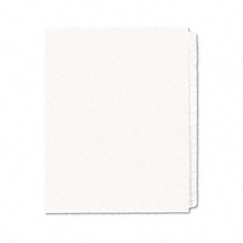"Avery 25-tab Blank Side Tab 11"" x 8.5"" White Legal Dividers -11959 (AVE-11959) Image 1"