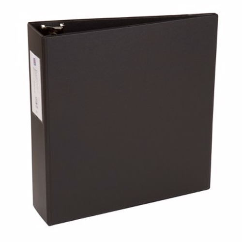 "Avery 3"" Black Economy Round Ring Binders with Label Holders 12pk (AVE-04601) Image 1"