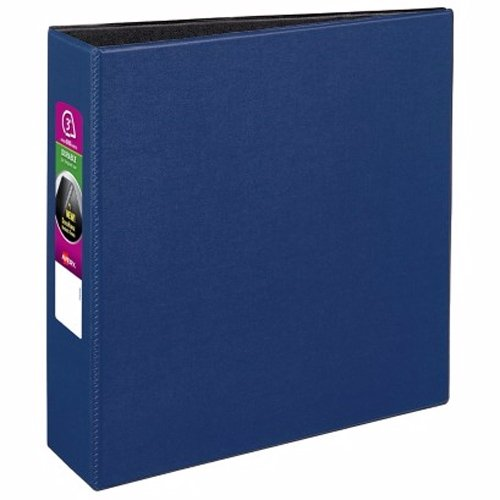 "Avery 3"" Navy Blue Durable Slant Ring Binders 6pk (AVE-27651) Image 1"