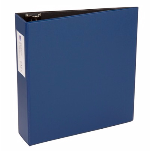 "Avery 3"" Blue Economy Round Ring Binders with Label Holders 12pk (AVE-04600) Image 1"