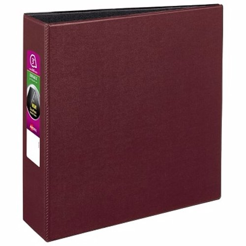 "Avery 3"" Burgundy Durable Slant Ring Binders 6pk (AVE-27652) Image 1"