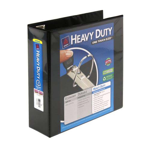 "Avery 3"" Black One Touch Heavy Duty EZD View Binders 4pk (AVE-79693)"