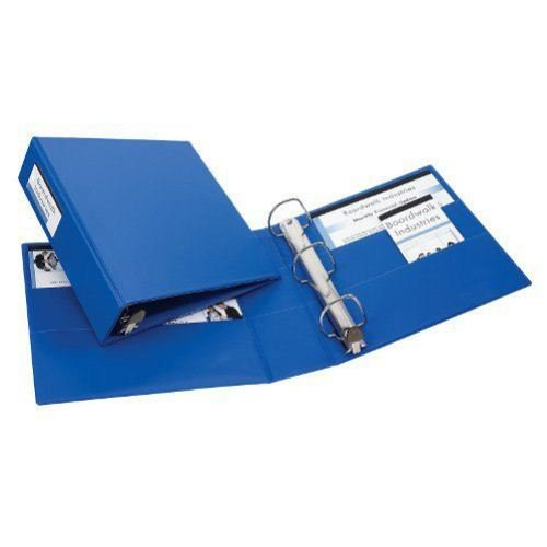 "Avery 3"" Blue One Touch EZD Binders with Label Holders 4pk (AVE-79893) Image 1"