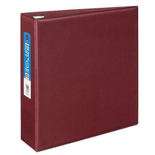 Maroon One Touch EZD Binder Image 1