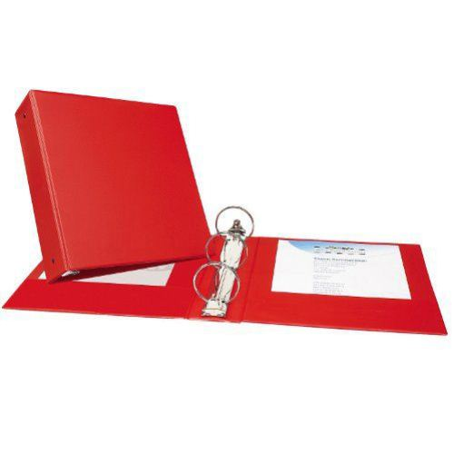 "Avery 3"" Red Economy Round Ring Binders 12pk (AVE-03608) Image 1"