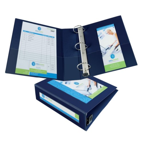 Avery Navy Blue Framed View Heavy Duty Binders with One Touch EZD Ring (AVE-NBFVHDBOTEZDR), Ring Binders Image 1