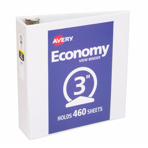 "Avery 3"" White Economy View Round Ring Binders 12pk (AVE-05800) Image 1"