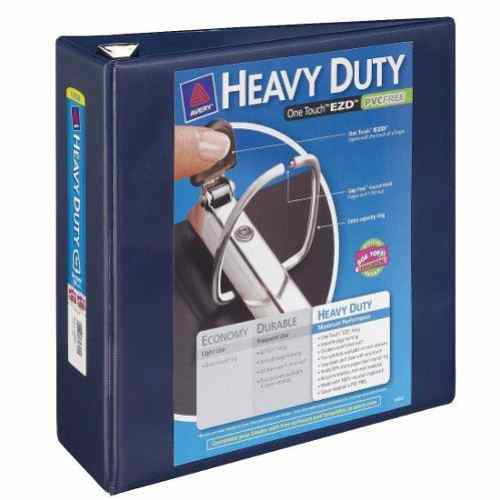 "Avery 4"" Navy Blue One Touch Heavy Duty EZD View Binders 4pk (AVE-79804) Image 1"