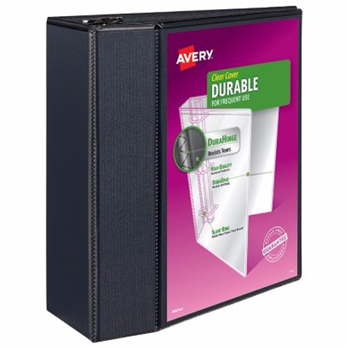 "Avery 5"" Black Durable View Binders with EZD Rings 2pk (AVE-09900)"