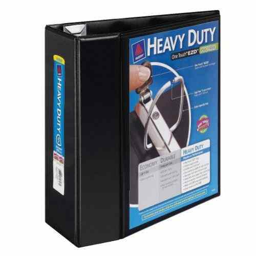 "Avery 5"" Black One Touch Heavy Duty EZD View Binders 2pk (AVE-79606) Image 1"