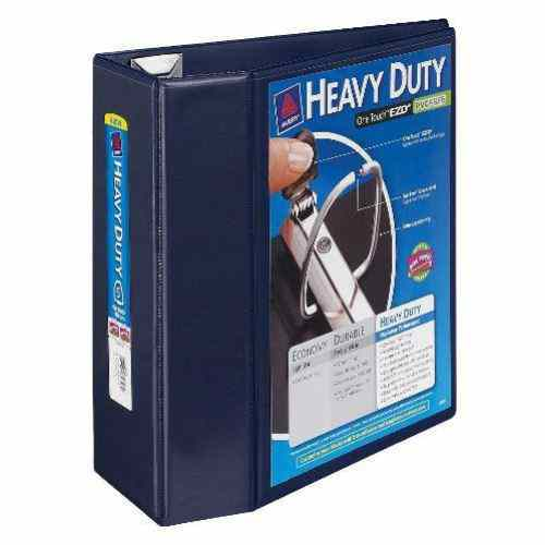"Avery 5"" Navy Blue One Touch Heavy Duty EZD View Binders 2pk (AVE-79806) Image 1"