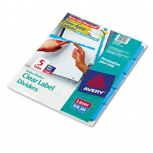 "Avery 5-tab Blue 11"" x 8.5"" White Dividers 5pk (AVE-11410) - $28.99 Image 1"