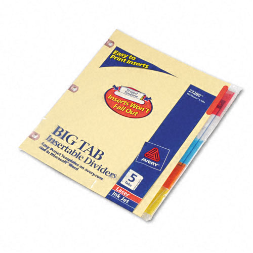 Avery 5-tab Buff Paper WorkSaver Big Tab Multicolor Dividers (AVE-23280) Image 1