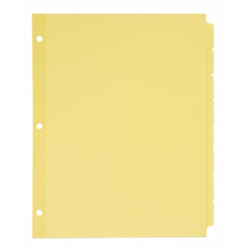 Avery 5-tab Buff Write-On Plain Tab Dividers 24pk (AVE-11505) Image 1