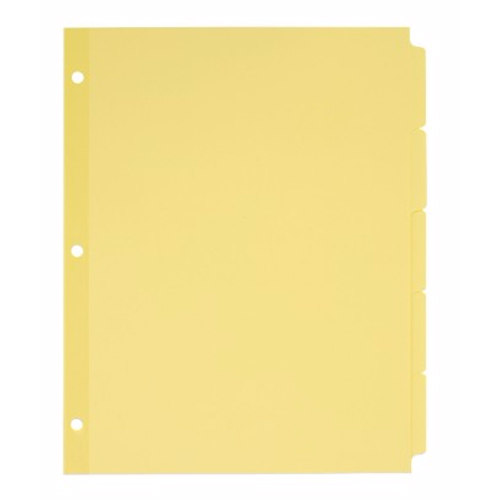 Avery 5-tab Buff Write-On Plain Tab Dividers 36pk (AVE-11501) - $47.6 Image 1